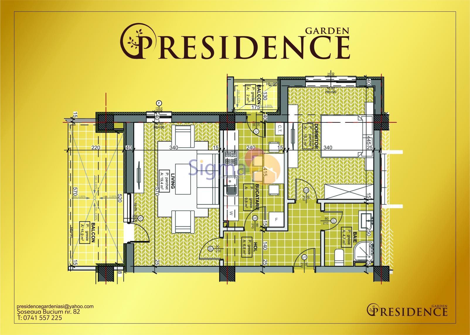Apartament cu 2 camere de vanzare Bucium 70mp utili
