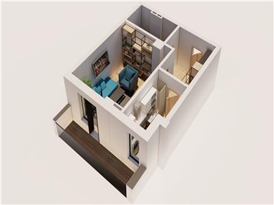 Apartament cu 1 camere de vanzare Bucium 43mp utili